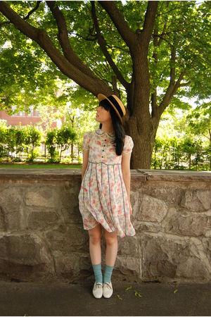 vintage from Ebay dress - vintage hat - Kensie found at Winners socks - vintage