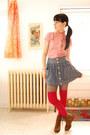 H-m-socks-love-pendant-etsy-necklace-forever-21-skirt-vintage-blouse-boo