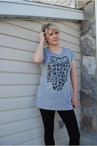 heather gray sequins romwe shirt