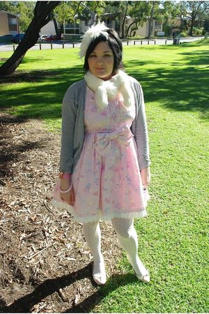 pink Angelic Pretty dress - white Forever New tights - white Alannah Hill hat -