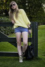 Violet-topshop-shorts-yellow-vintage-blouse