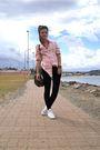 Pink-sportsgirl-shirt-white-converse-shoes-black-cotton-on-leggings