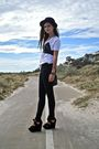 Black-wayne-cooper-pants-white-cotton-on-t-shirt-black-topshop-shoes-black