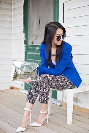 Topshop necklace - Zara blazer - Forever 21 pants - Stradivarius heels