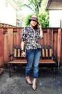 American-rag-jeans-animal-print-calvin-klein-shirt-snakeskin-mossimo-heels-