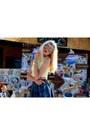 Blue-h-m-skirt-blue-ebay-necklace-gold-michael-kors-watch