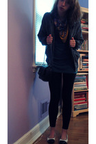 Express shirt - Primark leggings - shoes - Forever 21 jacket - Primark purse