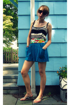 Pac Sun skirt - Max Rave shirt - scarf - Urban Outfitters sunglasses - Gap shoes