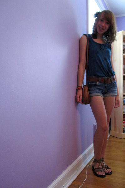 Gap shirt - Delias shorts - Steve Madden shoes - coach purse