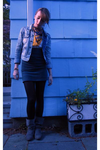 H&M jacket - skirt - calvin klein tights - Forever 21 shirt