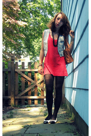 Forever21 dress - H&M tights - California Magdesian - vest