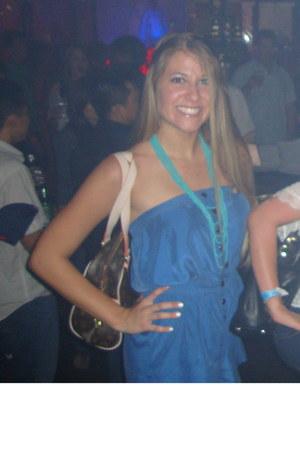 violet Forever 21 romper - aquamarine Forever 21 necklace