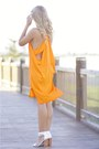 Orange-bettina-liano-dress-white-reflect-topshop-shoes-white-vintage-purse
