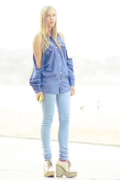 DIY top - Chloe boots - Bettina Liano jeans - asos hat