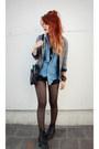 Black-doc-martens-boots-heather-gray-vintage-blazer