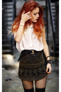 Black-boohoo-skirt-white-awwdore-blouse