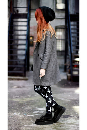 navy Black Milk leggings - charcoal gray She Inside coat
