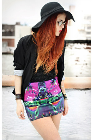 black My Style Rocks blazer - bubble gum Motel Rocks skirt - black vintage top