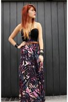 black vjstyle boots - deep purple Dag skirt