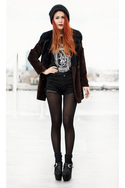black vintage jacket - black vintage t-shirt