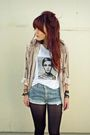 Blue-bleached-levis-shorts-black-tights-white-made-by-me-top-beige-vintage