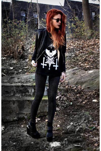 black nifelheim t-shirt - black Modekungen jacket