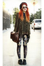 Brown-black-milk-leggings-burnt-orange-vintage-bag