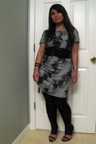 McQ dress - Wet Seal leggings - thrifted belt - Urban Outfitters bracelet - Stev