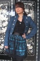 H&M blazer - t-shirt - Wet Seal skirt - Target tights - Jeffrey Campbell shoes -
