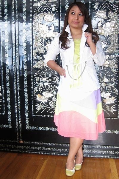 benetton blazer - H&M blouse - H&M skirt - Steve Madden shoes