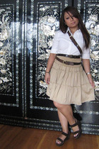 calvin klein shirt - Target skirt - Nine West shoes - belt