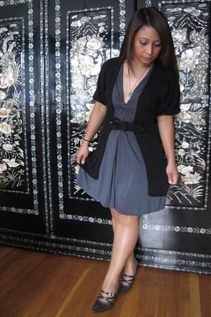 Target sweater - forever 21 dress - Express belt - Unlisted shoes