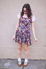 Tawny-forever-21-shoes-purple-floral-vintage-dress