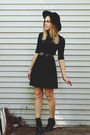 Black-urban-outfitters-boots-black-asos-hat