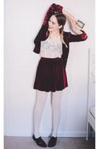 black patent American Apparel shoes - crimson velvet Juicy Couture blazer