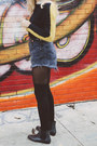 Black-urban-outfitters-boots-yellow-color-block-sweater