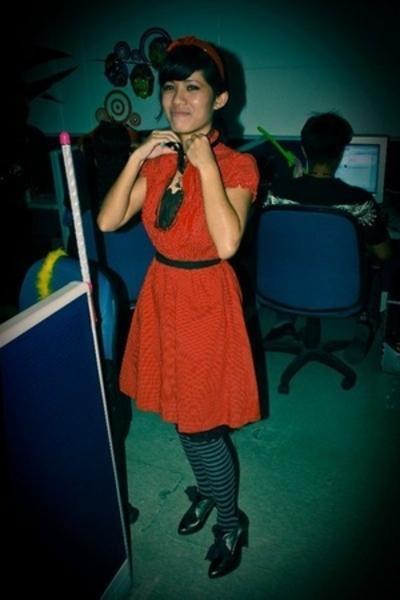 dress - Celine shoes - gloves - socks - Marcella accessories - handmade accessor