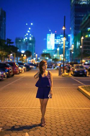 blue snakeskin sm parisian heels - navy Thriftmarket Manila romper