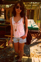 forever 21 top - Heritage 1981 shorts - Urban Outfitters shoes - H&M sunglasses