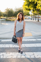 black Forever 21 bag - heather gray cotton on skirt