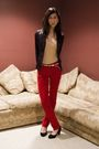 Black-h-m-blazer-beige-american-apparel-top-red-club-monaco-pants-black-de