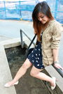 Beige-gap-jacket-blue-nasty-gal-dress-white-h-m-shoes-brown-wilfred-belt