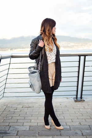 nude Club Monaco shorts - black leather Madonna for H&M jacket
