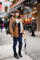 Forever 21 boots - brown wool OAK  FORT coat