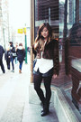 White-zara-blouse-black-forever-21-shorts-black-joe-fresh-tights-black-sto