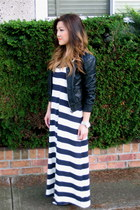 blue H&M dress - black Zara jacket