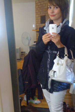 OKS blouse - skinny jeans Silver Jeans jeans - Lancel bag