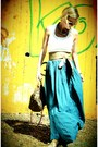 Teal-zara-skirt