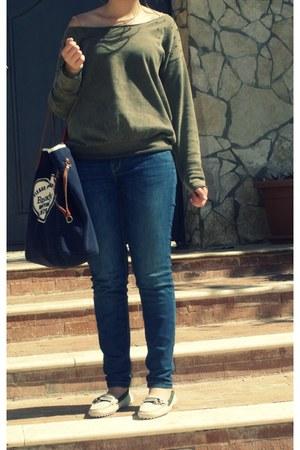 Zara jeans - Zara sweater - brandy&melville bag - Serafini loafers
