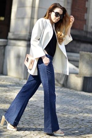 flare H&M jeans - light pink Zara bag